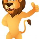 Funny lion cartoon — Stock Vector #11058285