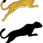 Tiger jumping — Stock Vector