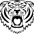 Royalty-Free Stock Vector Image: Tiger tattoo