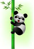 Panda climbing tree — Stock Vector
