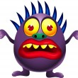 Purple monster cartoon — Stock Vector