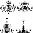 Stock Vector: Chandelier