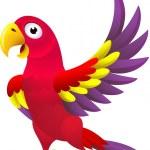 Funny parrot cartoon — Stock Vector #11222722