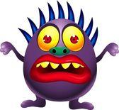 Purple monster cartoon — Stock Vector