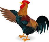 Rooster waving — Stock Vector