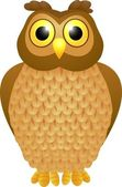 Funny owl cartoon — Stock Vector