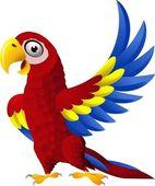 Szczegółowe ara śmieszne kreskówka ptak — Wektor stockowy