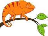 Kameleon zabawne kreskówki — Wektor stockowy