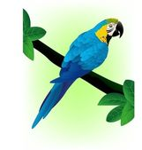 Blue macaw — Stock Vector