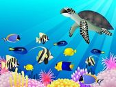 Sea Life Background — 图库矢量图片