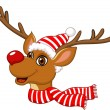 Royalty-Free Stock Vector Image: Cute Christmas Reindeer
