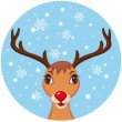 Stock Vector: Cute Christmas Reindeer