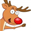 Cute Christmas Reindeer — Stock Vector