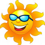 Sun cartoon character — Stock Vector