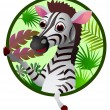 Zebra cartoon — Stock Vector #11904908