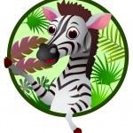 Zebra cartoon — Stock Vector #11904908