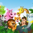 Royalty-Free Stock Obraz wektorowy: Animal cartoon group