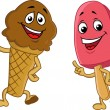 Ice cream cartoon character — Vector de stock