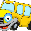 School bus cartoon — 图库矢量图片