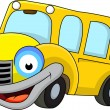 Vector de stock : School bus cartoon