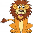 Stock Vector: Funny lion cartoon sitting