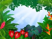 Tropical forest background — 图库矢量图片