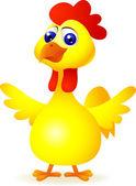 Funny chicken cartoon — Stock Vector