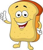 Slice of bread cartoon character — Stock Vector
