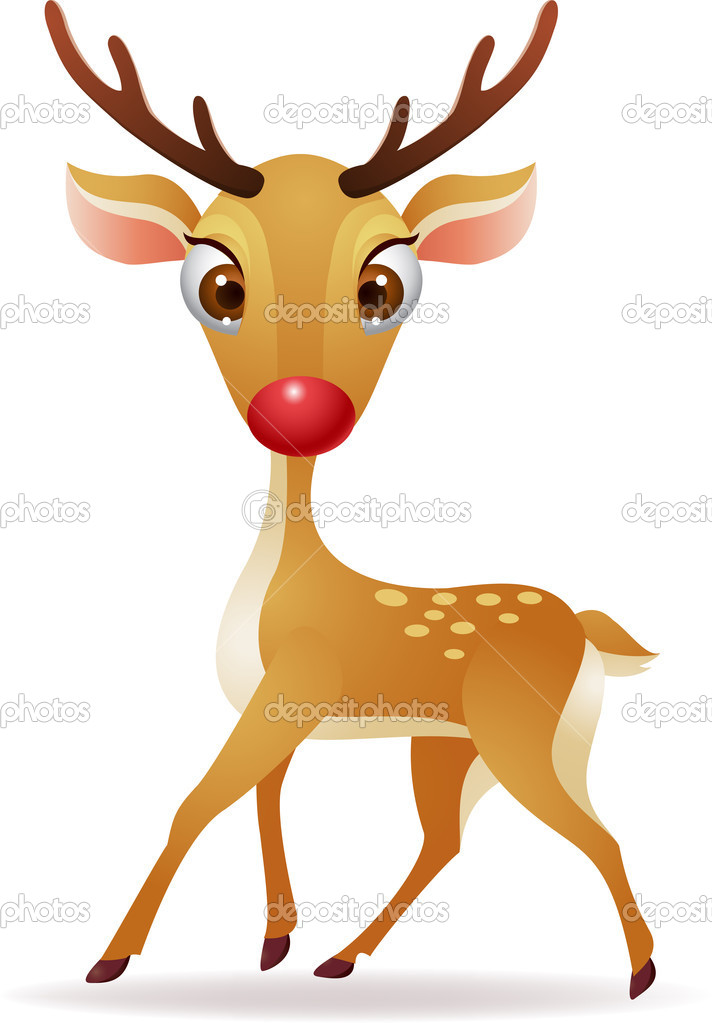 Vector Illustration of Red nose deer  — Stock Vector #11904622