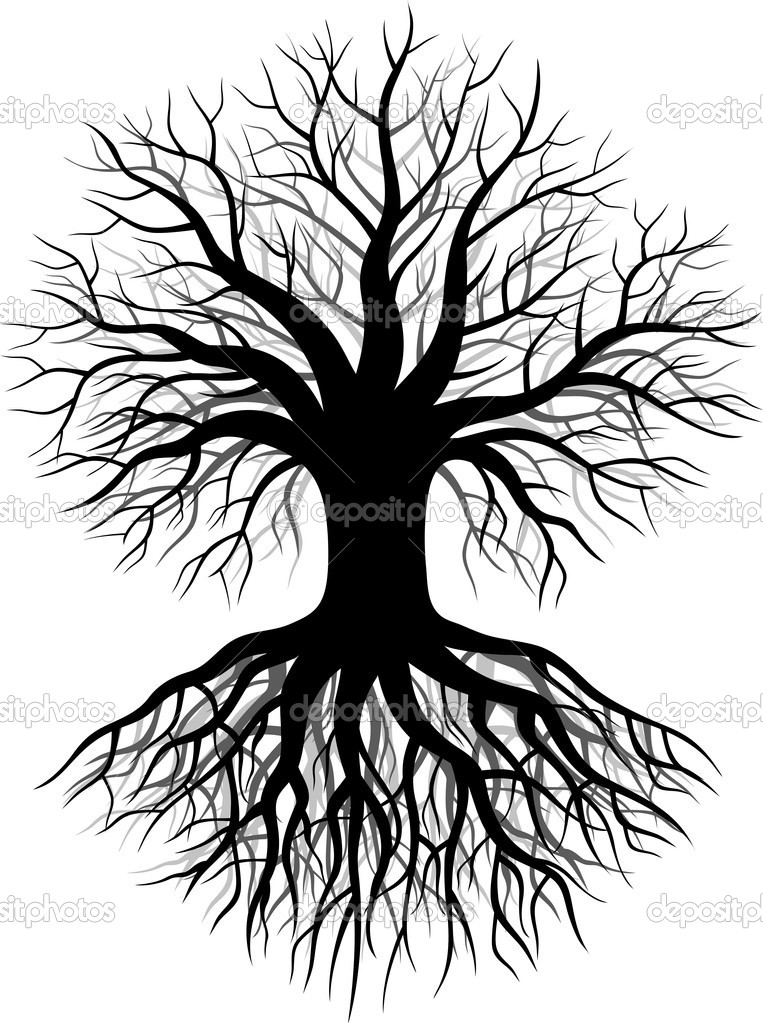 Vector Illustration of Tree silhouette  — Stock Vector #11904702