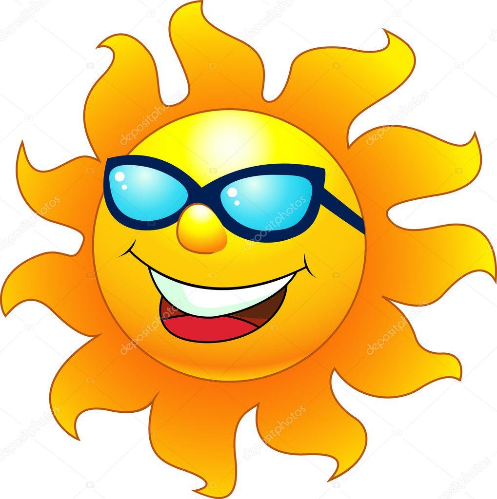 Sun cartoon character stock illustration