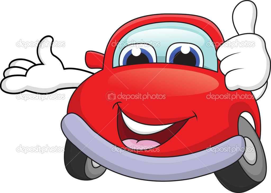 Vector illustration of Car cartoon character with thumb up  Stock Vector #11908203