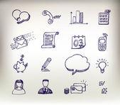 Sketchy doodle icon set — Stock Vector