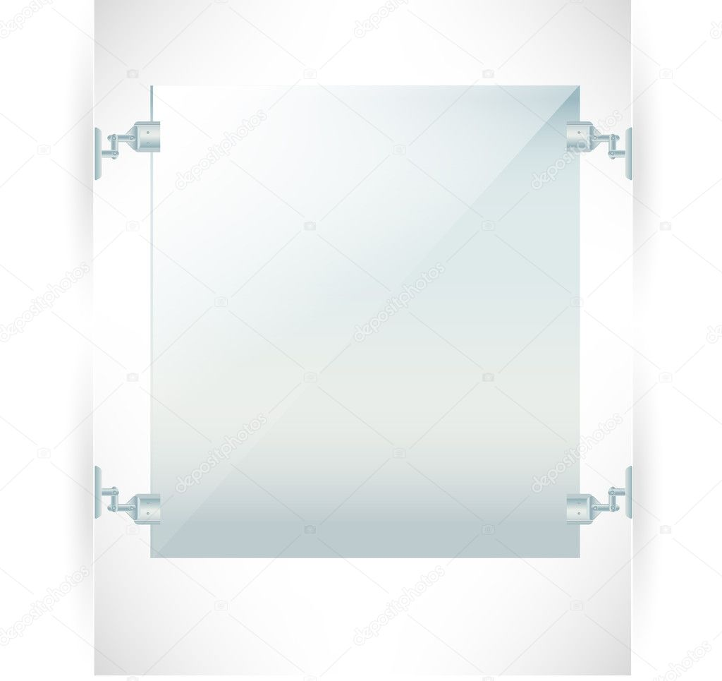 Advertising wall frame isolated on white background — Stock Vector #10851655
