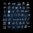Royalty-Free Stock Vector Image: Web Icon set doodle
