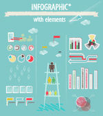 Infographic with elements — Stock Vector