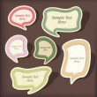 Speech bubbles vector scrapbook set — Stock Vector