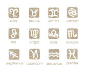 Zodiac horoscope signs vector set — Stock Vector