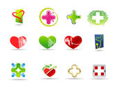 Medical and health icons set — Stock Vector