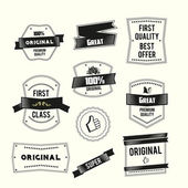 Retro Vintage labels set Premium Quality and Original theme — Stock Vector