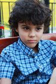 Curly boy — Stock Photo