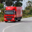 Stock Photo: Portugese mail truck on road
