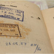 Stock Photo: Passport with stamps