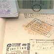 Stock Photo: Stamped passport
