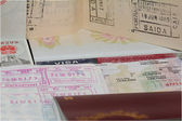 Passport & Visas — Stock Photo