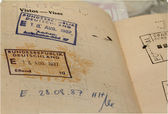 Passport with stamps — Stock Photo