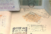 Stamped passport — Stock Photo