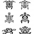 Stock Vector: Turtle Tattoo Set