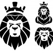 Stock Vector: Lion with crown