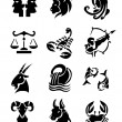 Zodiac signs sets — Stockvektor
